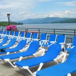 Looking North over Lake George from the pool