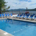 In-ground pool at Lake George Lake Motel