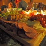 Charcuterie board at the wine tasting